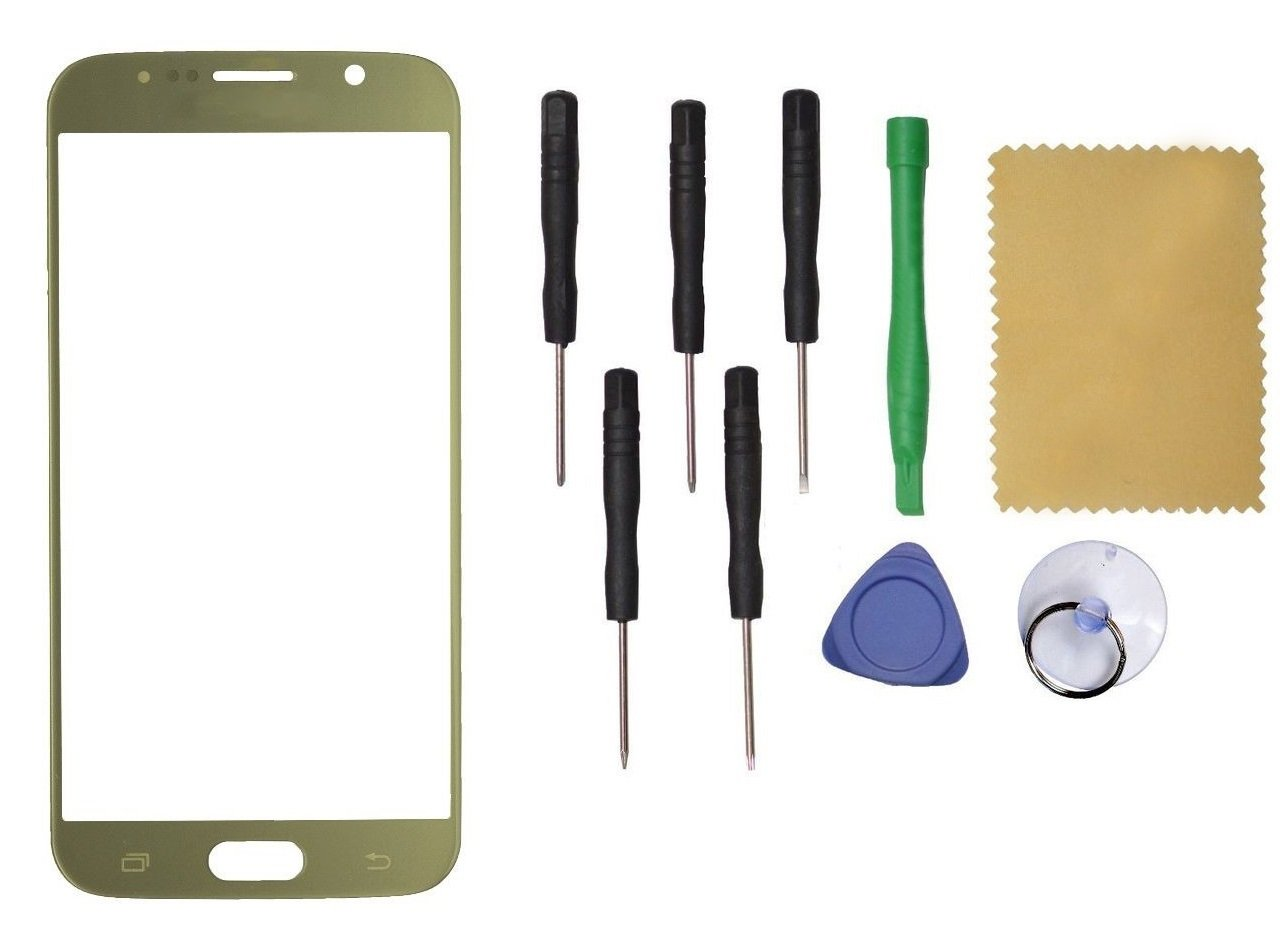 Samsung Galaxy S6 G920 Front Outer Touch Screen Glass Replacement Gold