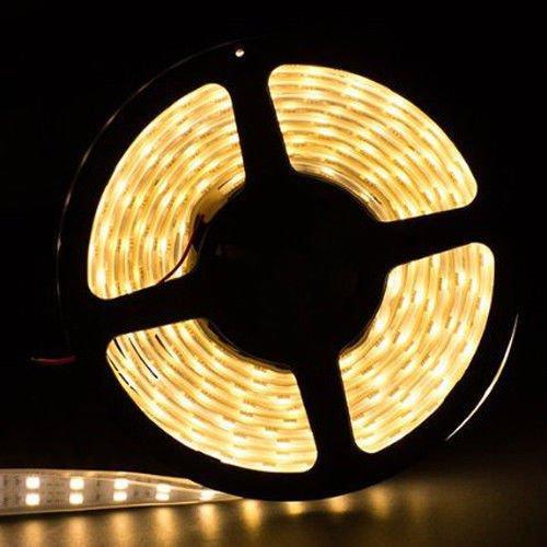 SMD 5050 5M 600 LEDs Tube Waterproof Double Row LED Strip Light Warm White
