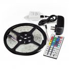 5M SMD RGB 3528 Waterproof Strip light 300 LED 44 Key IR Remote Power Supply