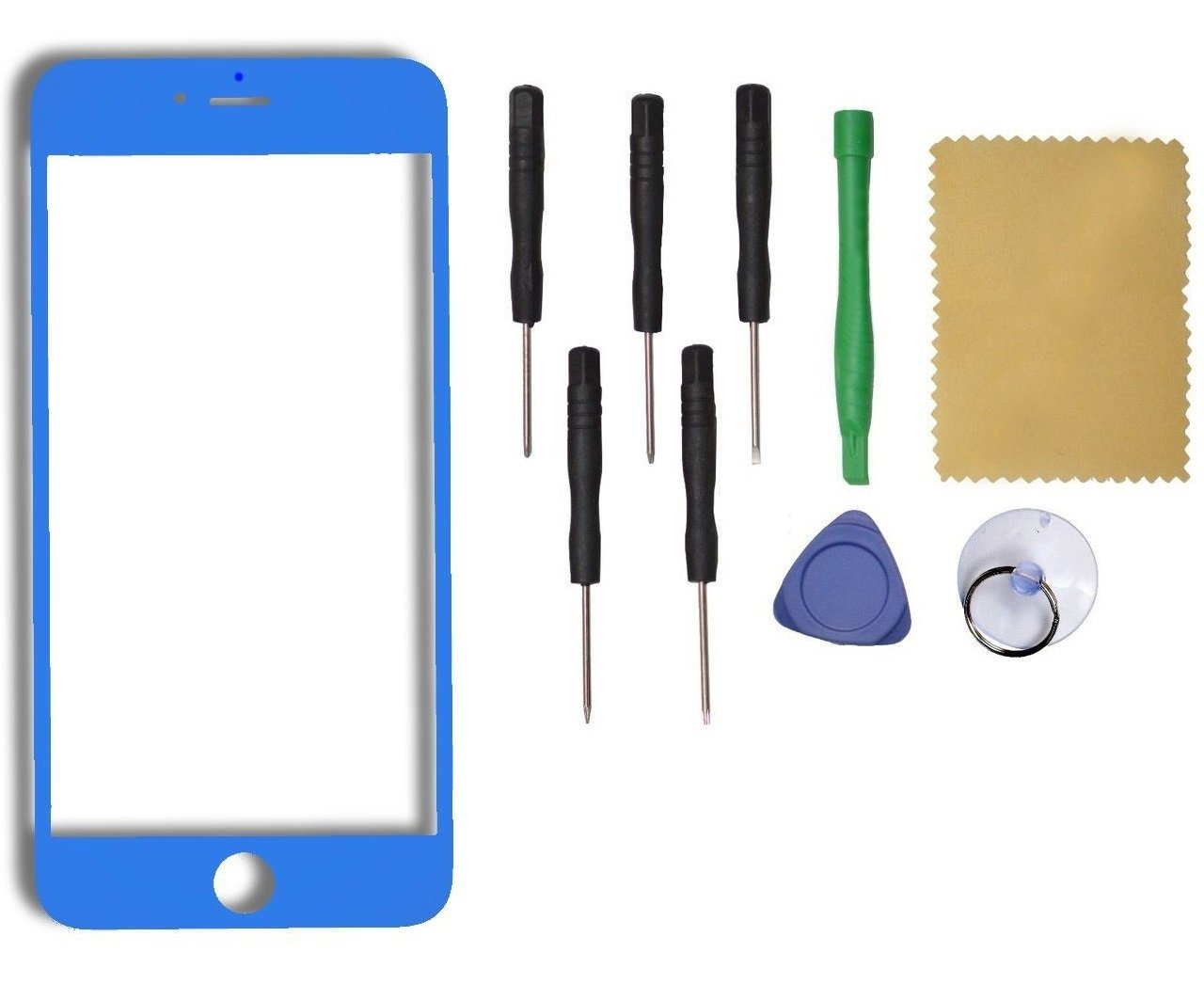 """New Apple iPhone 6 Plus 5.5"""" Front LCD Outer Glass Lens Replacement  Blue"""
