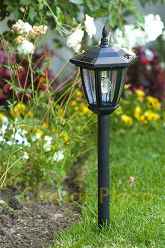 New 6 x Outdoor Garden 3-LED Antique Solar Landscape Light