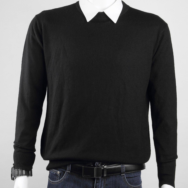 New Medium Men�s Lightweight Cashmere Crewneck Sweater