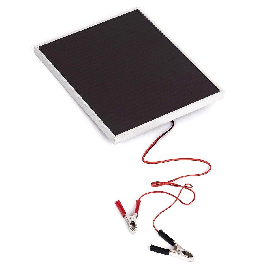 Two 5 Watt 18V Thin Film Solar Panel RV Battery Charger Kit w Alligator Clips