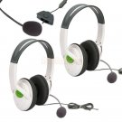 2x New Big Live Headset Headphone with Mic for Xbox 360 White