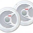 New Pyle PLMR60W Pair 150Watts 6.5 2 Way White Marine Boat Waterproof Speakers