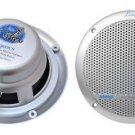 New Lanzar AQ6DCS Pair Silver 360 Watt 6.5 inch Marine Boat Waterproof Speakers