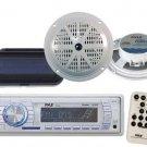 Pyle PLMR18 New Marine Boat MP3 USB AUX AM FM Radio Pair 5.25 Speakers,Cover