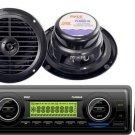 New 200 Watt PLMR86B In Dash Marine Boat USB MP3 SD Receiver 2 Speakers