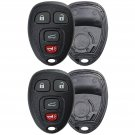 2 New Replacement Remote Keyless Key Fob Clicker Case Shell Rubber Pad Housing
