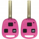 2 New Pink Uncut Ignition Master Key Keyless Entry Remote Fob Transmitter Head