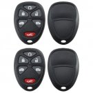 2 New Replacement Keyless Remote Key Fob Case Shell Housing Button Pad Fix Van