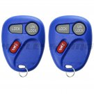 2 New Blue Replacement Keyless Entry Remote Key Fob Clicker Control for 15732803