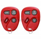 2 New Red Replacement Keyless Entry Remote Key Fob Clicker Control for 15732805