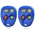2 New Blue Keyless Entry Remote Key Fob Transmitter Clicker Control for 10443537