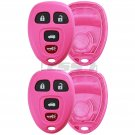 New Pink Replacement Keyless Remote Case Housing Pad Shell Key Fob Fix Repair