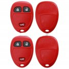2 New Red Replacement Keyless Remote Key Fob Case Shell Rubber Pad for 15777636