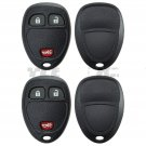 2 Replacement Keyless Remote Key Fob Case Shell Rubber Button Pad for 15777636