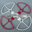 2 RED 2 WHITE SNAP Propellers Guard QUICK RELEASE DJI PHANTOM 1 2 3 PRO VISION