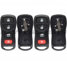 2 New Replacement Keyless Entry Remote Shell Case Pad Fob Housing For KBRASTU15