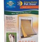 Pet Safe Extreme Weather Pet Door Medium Size White