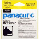 Panacur C Canine Dewormer Dogs 1 Gram Each Packet Treats (3 Packets)