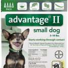 Dogs Advantage II Green 4pk-4 Month Supply Genuine USA EPA Approved