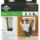 PetSafe P1-4W-11 4-Way Locking Indoor Cat Door White