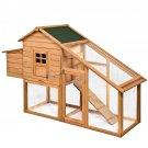 """75"""" Deluxe Wooden Chicken Coop Backyard Nest Box Hen House Rabbit Wood Hutch"""