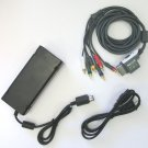 XBox 360 S 360 Slim Power Supply & HD AV Component Cable Hookup Connections
