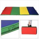 "Goplus 4'x10'x2"" Folding Panel Gymnastics Mat Gym Fitness Exercise Multicolor"