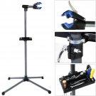 "Pro Bike Repair Stand Adjustable 39"" To 60"" Blue Cycle Bicycle Rack"
