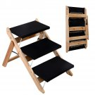 New Portable Folding 2-in-1 Wooden Pet Ramp & Stairs Dog Cat Animal Steps Ladder