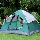 3-Person Outdoor 7'*5' Camping Hiking Tent WaterProof Double Layer Two-Door