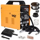 Goplus MIG 130 Welder Flux Core Wire Automatic Feed Welding Machine w/ Free Mask
