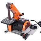 "Goplus 1"" X 30"" Belt 5"" Disc Sander 1/3HP Polish Grinder Sanding Machine New"
