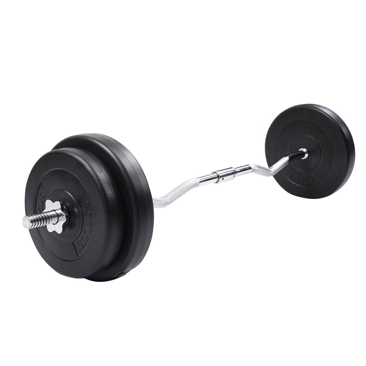 Cheapest Dumbbell Set: Goplus 64 LB Barbell Dumbbell Weight Set Gym Lifting