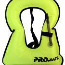 Promate Snorkeling Vest Inflatable Snorkel Jacket for Adult and Kid Neon Yellow