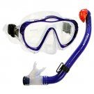 NEW Kid's Silicone Mask, Dry Snorkel for Boy Girl Scuba Dive Snorkeling Gear Set Blue
