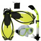 Promate Sea Viewer Snorkeling Diving Gear Package Gift Set Yellow