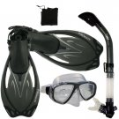 Promate Sea Viewer Snorkeling Diving Gear Package Gift Set Titanium