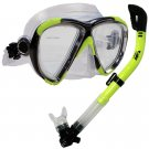 NEW Scuba Diving Matrix Mask Dry Snorkel Snorkeling Set Yellow