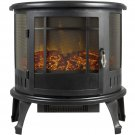 Portable Electric Fireplace Stove 1500W Space Heater Realistic Flame Corner Unit