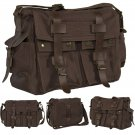 Men's Vintage Bag Canvas Leather School Military Shoulder Messenger Bag