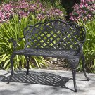 Patio Garden Bench Cast Aluminum Outdoor Garden Yard Solid Construction