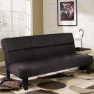 "Microfiber Futon Folding Couch Sofa Bed w/ 6"" Mattress Sleep Recliner Lounger BK"