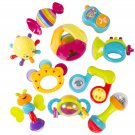 10 Piece Baby Rattle Toy Gift Set with Mirror, Bells & Instruments