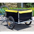 Bike Cargo Trailer Bicycle With Cover Shopping Cart Carrier Tow Hauler Garden