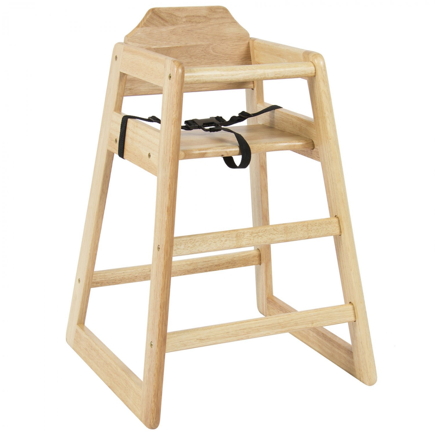 Kids Cafe Furniture: High Grade Wood Baby High Chair Kids Restaurant Stackable