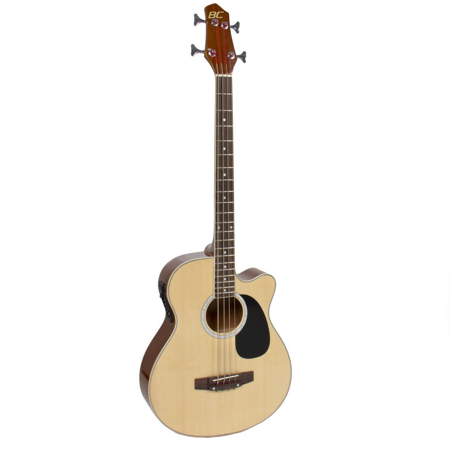 Electric Acoustic Bass Guitar Natural With Equalizer Solid Construction