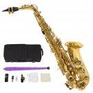 New Professional Gold Eb Alto Sax Saxophone with Accessories